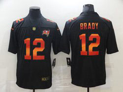 Mens Nfl Tampa Bay Buccaneers #12 Tom Brady Black Colorful Vapor Untouchable Limited Nike Jersey