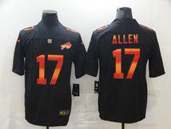 Mens Nfl Buffalo Bills #17 Josh Allen Black Colorful Vapor Untouchable Limited Nike Jersey
