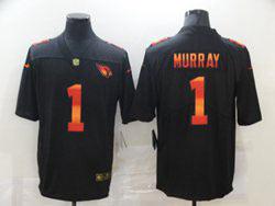 Mens Nfl Arizona Cardinals #1 Kyler Murray Black Colorful Vapor Untouchable Limited Nike Jersey