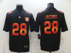 Mens Nfl Las Vegas Raiders #28 Josh Jacobs Black Colorful Vapor Untouchable Limited Nike Jersey