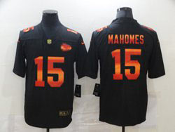 Mens Nfl Kansas City Chiefs #15 Patrick Mahomes Black Colorful Vapor Untouchable Limited Nike Jersey