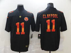 Mens Nfl Pittsburgh Steelers #11 Chase Claypool Black Colorful Vapor Untouchable Limited Nike Jersey