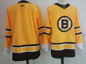 Mens Nhl Boston Bruins Blank Yellow 2021 Reverse Retro Alternate Adidas Jersey