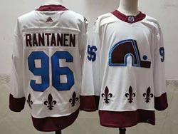Mens Nhl Colorado Avalanche #96 Mikko Rantanen White 2021 Reverse Retro Alternate Adidas Jersey