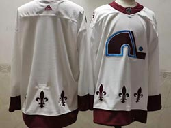 Mens Nhl Colorado Avalanche Blank White 2021 Reverse Retro Alternate Adidas Jersey