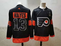Mens Nhl Philadelphia Flyers #13 Kevin Hayes Black Adidas Jersey
