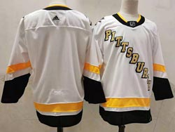 Mens Nhl Pittsburgh Penguins Blank White 2021 Reverse Retro Alternate Adidas Jersey
