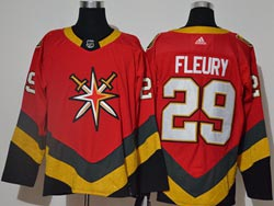 Mens Nhl Vegas Golden Knights #29 Marc-andre Fleury Red 2021 Reverse Retro Alternate Adidas Jersey