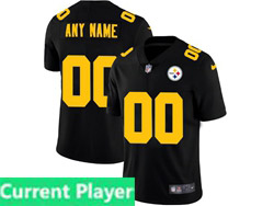 Mens Nfl Pittsburgh Steelers Current Player 2021 Black Big Number 3th Vapor Untouchable Limited Nike Jersey
