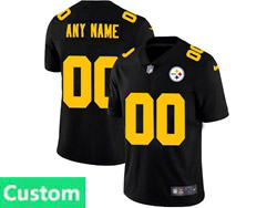 Mens Nfl Pittsburgh Steelers Custom Made 2021 Black Big Number 3th Vapor Untouchable Limited Nike Jersey