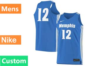 Mens Ncaa Nba Nike Memphis Tigers Custom Made Blue Jersey