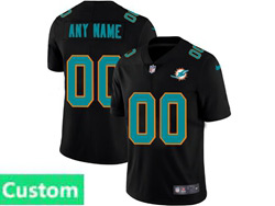 Mens Nfl Miami Dolphins Custom Made 2021 Black 3th Vapor Untouchable Limited Nike Jersey