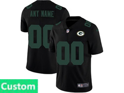Mens Nfl Green Bay Packers Custom Made 2021 Black 3th Vapor Untouchable Limited Nike Jersey