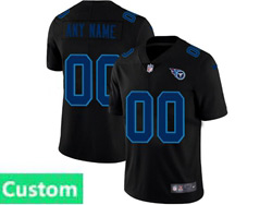 Mens Nfl Tennessee Titans Custom Made 2021 Black 3th Vapor Untouchable Limited Nike Jersey