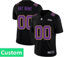 Mens Nfl Baltimore Ravens Custom Made 2021 Black 3th Vapor Untouchable Limited Nike Jersey