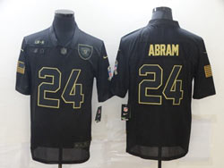 Mens Nfl Las Vegas Raiders #24 Johnathan Abram Black Nike 2020 Salute To Service Limited Jersey