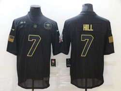 Mens Nfl New Orleans Saints #7 Taysom Hill Black Nike 2020 Salute To Service Limited Jersey