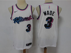 Mens Nba Miami Heat #3 Dwyane Wade White 2021 Swingman Nike Jersey