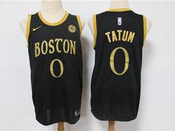 Mens Nba Boston Celtics #0 Jayson Tatum Black 2021 Swingman Nike Jersey