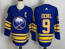 Mens Nhl Buffalo Sabres #9 Jack Eichel 2021 Blue Adidas Jersey