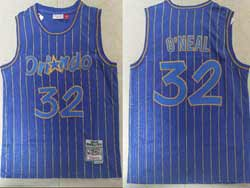 Mens Nba Orlando Magic #32 Shaouille O'neal Purple Stripe 1994-95 Mitchell&ness Hardwood Classics Swingman Jersey
