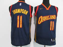 Mens Nba Golden State Warriors #11 Klay Thompson Dark Blue 2021 City Edition Swingman Nike Jersey
