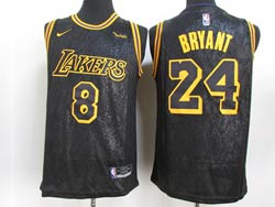 Mens Nba Los Angeles Lakers #8&24 Kobe Bryant Black 2021 City Edition Swingman Nike Jersey