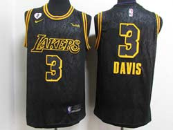 Mens Nba Los Angeles Lakers #3 Anthony Davis Black 2021 City Edition Swingman Nike Jersey