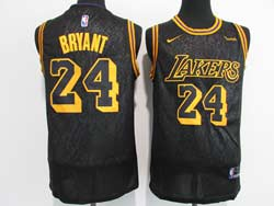 Mens Nba Los Angeles Lakers #24 Kobe Bryant Black 2021 City Edition Swingman Nike Jersey