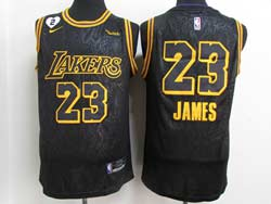 Mens Nba Los Angeles Lakers #23 Lebron James Black 2021 City Edition Swingman Nike Jersey