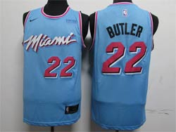 Mens Nba Miami Heat #22 Jimmy Butler Light Blue City Edition Swingman Nike Jersey