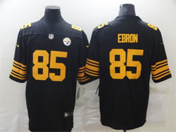Mens Nfl Pittsburgh Steelers #85 Eric Ebron Black Color Rush Vapor Untouchable Limited Nike Jersey