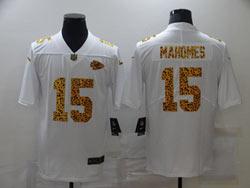 Mens Nfl Kansas City Chiefs #15 Patrick Mahomes White Leopard Vapor Untouchable Limited Nike Jersey
