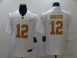 Mens Nfl Green Bay Packers #12 Aaron Rodgers White Leopard Vapor Untouchable Limited Nike Jersey