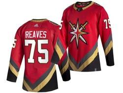 Mens Nhl Vegas Golden Knights #75 Ryan Reaves Red 2021 Reverse Retro Alternate Adidas Jersey