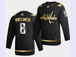 Mens Nhl Washington Capitals #8 Alexander Ovechkin Black Golden Adidas Jersey