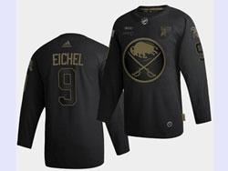Mens Nhl Buffalo Sabres #9 Jack Eichel Black Golden Adidas Jersey
