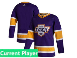 Mens Nhl Los Angeles Kings Current Player Purple 2021 Reverse Retro Alternate Adidas Jersey