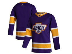Mens Nhl Los Angeles Kings Blank Purple 2021 Reverse Retro Alternate Adidas Jersey