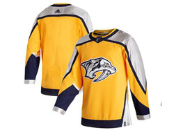 Mens Nhl Nashville Predators Blank Yellow 2021 Reverse Retro Alternate Adidas Jersey