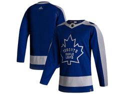 Mens Nhl Toronto Maple Leafs Blank Blue 2021 Reverse Retro Alternate Adidas Jersey