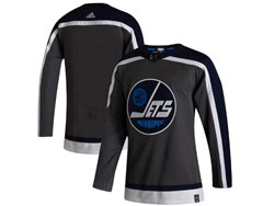 Mens Nhl Winnipeg Jets Blank Black 2021 Reverse Retro Alternate Adidas Jersey