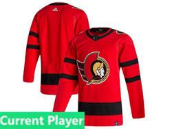 Mens Nhl Ottawa Senators Current Player Red 2021 Reverse Retro Alternate Adidas Jersey
