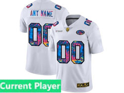 Mens Nfl San Francisco 49ers Current Player White Rainbow Vapor Untouchable Limited Nike Jersey