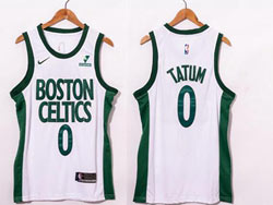 Mens 2021 Nba Boston Celtics #0 Jayson Tatum White City Edition Swingman Nike Jersey