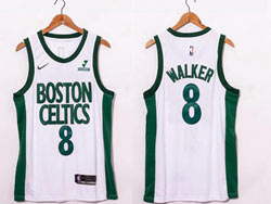 Mens Nba Boston Celtics #8 Kemba Walker White 2020-21 City Edition Nike Swingman Jersey