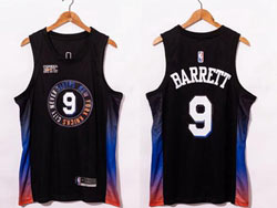 Mens 2021 Nba New York Knicks #9 R.j. Barrett Black City Edition Swingman Nike Jersey