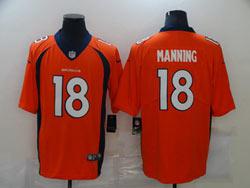 Mens Nfl Denver Broncos #18 Peyton Manning Orange Vapor Untouchable Limited Nike Jersey