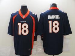Mens Nfl Denver Broncos #18 Peyton Manning Blue Vapor Untouchable Limited Nike Jersey