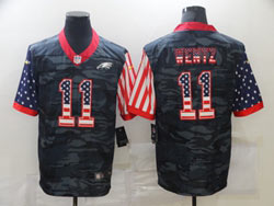 Mens Nfl Philadelphia Eagles #11 Carson Wentz 2020 Camo Usa Flag Salute To Service Limited Nike Jersey